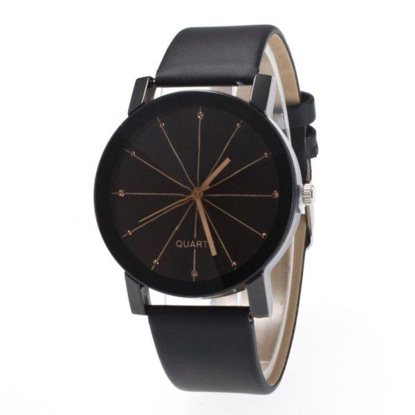 Đồng hồ nam dây da tổng hợp Sinobi PKHRSI001-1 (đen mặt đen)
