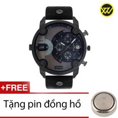 Đồng Hồ Nam Day Da Xtw S39 Đen Tặng 1 Pin Đồng Hồ Wilon Chiết Khấu 30