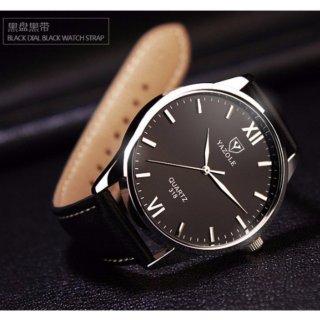Đồng hồ nam dây da Yazole 318 thumbnail