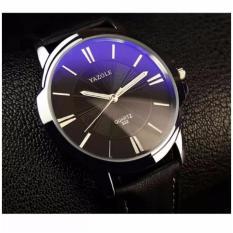 Đồng hồ nam dây da Yazole YR332 (Đen)