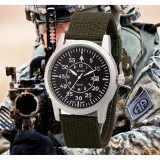 Đồng hồ nam dây dù lính cao cấp SINO JAPAN MOVT SN2992 (Xanh rêu).