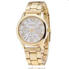 Đồng hồ nam dây hợp kim Geneva GE008-1 (Trắng)