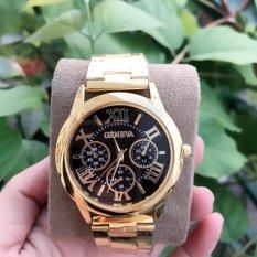 Đồng hồ nam dây hợp kim Geneva GE008-3  (MẶT ĐEN)