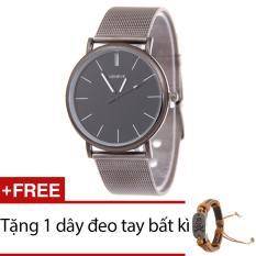 Hình ảnh Đồng hồ nam dây hợp kim Geneve G003-3 (Đen xám) + Tặng 1 dây đeo tay bất kì