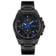 Nơi bán Đồng hồ nam dây inox ĐEN cao cấp SKMEI DHSK9109B (Mặt đen)