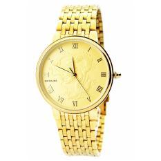 Hình ảnh Đồng hồ nam dây kim loại chạm rồng Baishuns DM067 (Vàng)