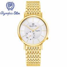 Đồng Hồ Nam Day Kim Loại Mặt Kinh Sapphire Chống Xước Olympia Star Opa58012 07Mk T Rẻ