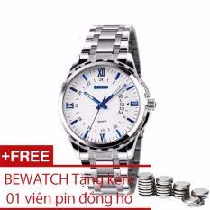 Giá Bán Đồng Hồ Nam Day Kim Loại Skmei 9069 Tặng Them 01 Vien Pin Bewatch Nguyên