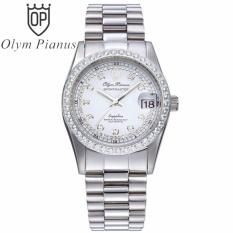 Đồng hồ nam dây mặt kính sapphire Olym Pianus OP89322ADS trắng hạt trắng bán chạy
