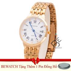 Đồng Hồ Nam Day Kim Loại Vang Tặng Kem 01 Vien Pin Bewatch Chiết Khấu 30