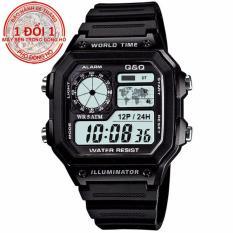 Đồng hồ nam dây nhựa chống nước Q&Q