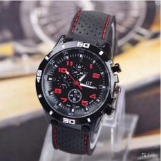 Hình ảnh Đồng hồ nam dây silicon thể thao 245 (Đen phối đỏ)
