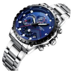 Đồng hồ nam dây thép đặc 6 kim cao cấp Nibosi 2322 (fullbox, bảo hành 12 tháng)