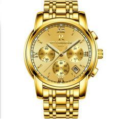 Đồng hồ nam dây thép đặc không gỉ cao cấp R-Ontheedge (gold)