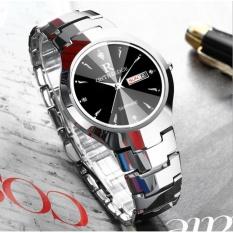 Hình ảnh Đồng hồ nam dây thép đặc siêu mỏng kính sapphire Ontheedge