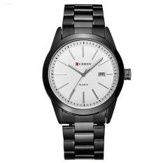 Nơi bán Đồng hồ nam dây thép đen không gỉ CURREN DHCR118 (Mặt trắng)