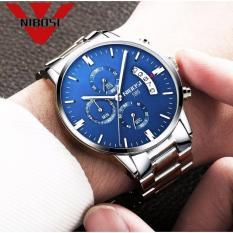 Đồng hồ nam dây thép không gỉ 6 kim cao cấp Nibosi (blue) bán chạy