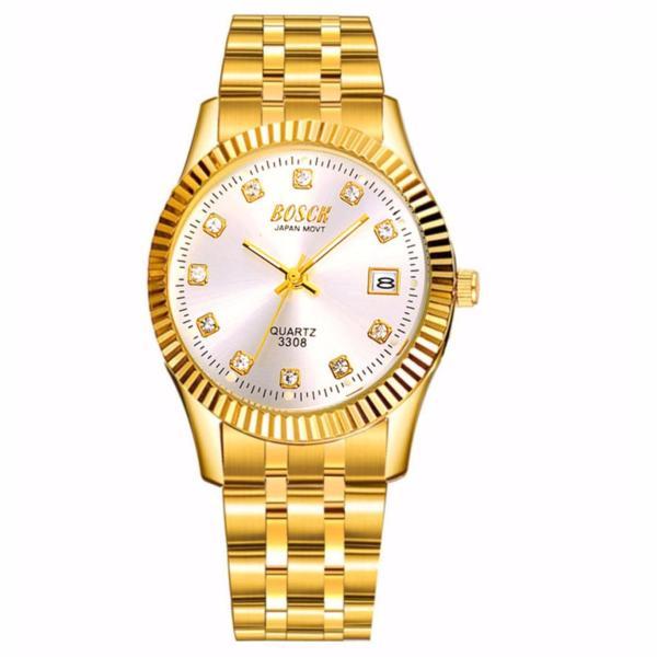 Đồng hồ nam dây thép không gỉ Bosck Japan B01 (Vàng) bán chạy