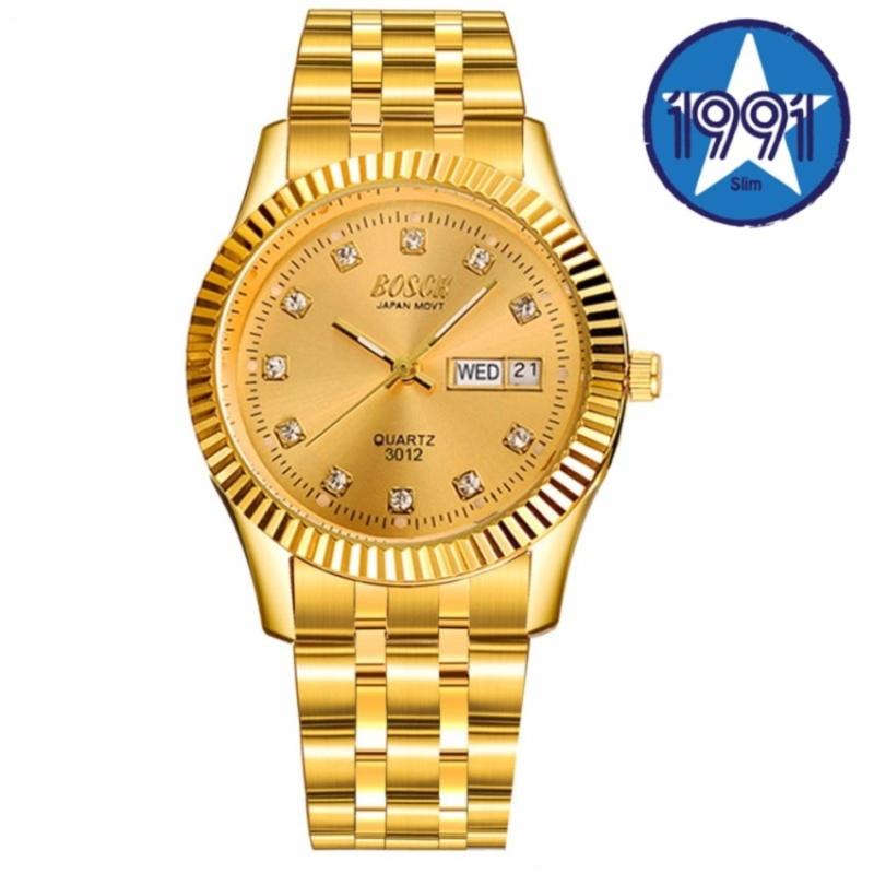 Đồng hồ nam dây thép không gỉ Bosck Japan B3012 (Vàng) bán chạy