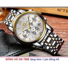Bán Đồng Hồ Nam Day Thep Khong Gỉ R Ontheedge 026 6 Kim Quay Bạc Phối Vang Rẻ Trong Hồ Chí Minh