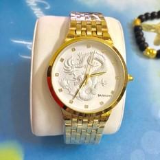 Hình ảnh Đồng hồ nam dây thép mặt rồng cao cấp Baishuns BSR003
