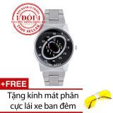 Giá Bán Đồng Hồ Nam Day Thep Time Seller Ts06 Trắng Tặng 01 Kinh Phan Cực Lai Xe Ban Đem Tốt Nhất