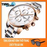 Giá Bán Đồng Hồ Nam Day Thep Timezone Nibosi Chạy 6 Kim Mặt Trắng Demi Fullbox Tặng Kem Kinh Chữ V Rẻ Nhất
