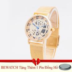 Bán Mua Trực Tuyến Đồng Hồ Nam Day Thep Wilon 938 Đen Tặng Kem 01 Vien Pin