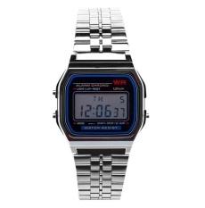 Đồng hồ nam điện tử dây thép không gỉ (màu bạc )