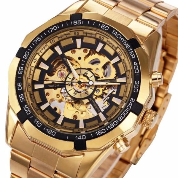 Đồng hồ nam Forsining TM340 automatic lộ máy (Full Gold) bán chạy