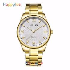 Ôn Tập Đồng Hồ Nam Halei Hl154 Mặt Trắng Chống Nước Cực Men