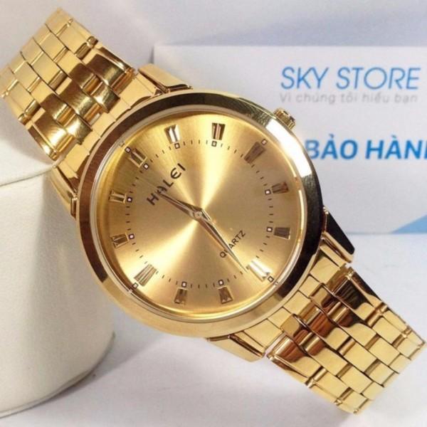 Đồng hồ nam Halei HL167 V6 màu vàng cực đẹp chống nước