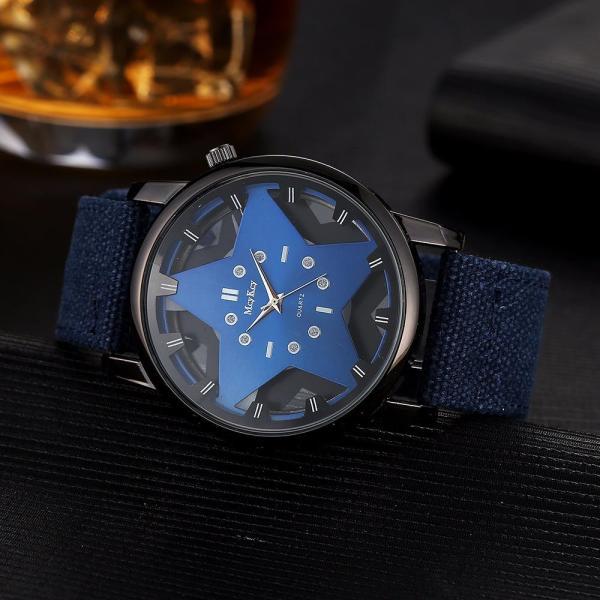 Đồng hồ nam ngôi sao dây vải 3D McyKcy