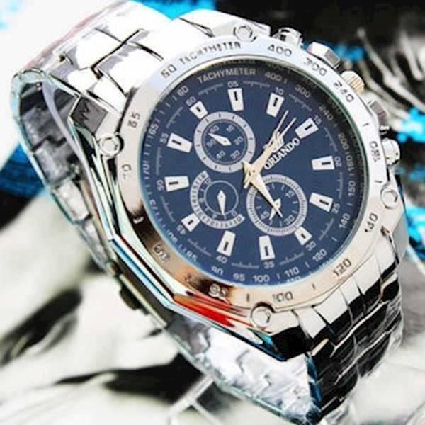 Nơi bán Đồng hồ nam dây thép không gỉ Oriando (xanh)