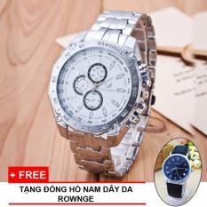 Cửa Hàng Đồng Hồ Nam Oriando Day Inox Chống Rỉ Mặt Số White Tặng Đồng Hồ Nam Day Da Rownge Đen Trong Hà Nội