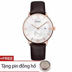 Đồng Hồ Nam Prema Chinh Hang Prm02 Trắng Rẻ