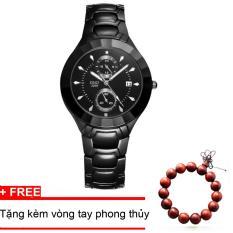 Mua Đồng Hồ Nam Sino 3D Japan Movt Sn2209 Full Black Tặng Một Vong Tay Phong Thủy Sino Trực Tuyến