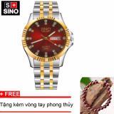 Ôn Tập Đồng Hồ Nam Sino Japan Movt Red Luxury Tặng Vong Tay Phong Thuỷ Đa Đỏ Mdl S3022