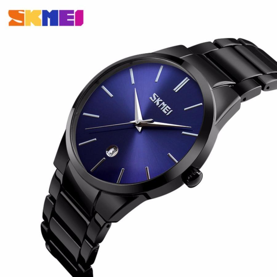 Đồng hồ nam Skmei 9140 mặt xanh cực men