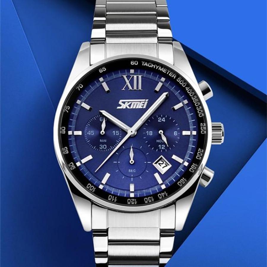 Đồng hồ nam thời trang chống nước cao cấp Skmei 9096  Xanh  002Đồng hồ nam thời trang Skmei
