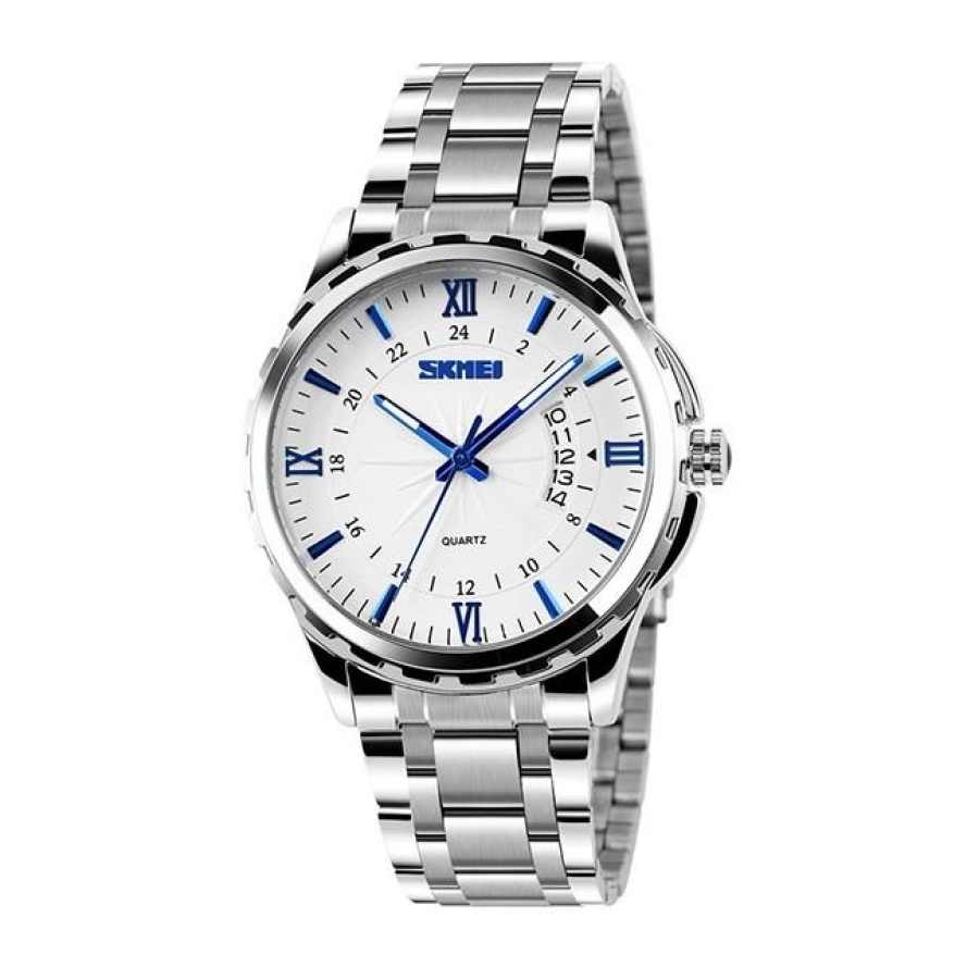 Đồng hồ nam thời trang chống nước SK 9069  Trắng  05Đồng hồ nam thời trang Skmei