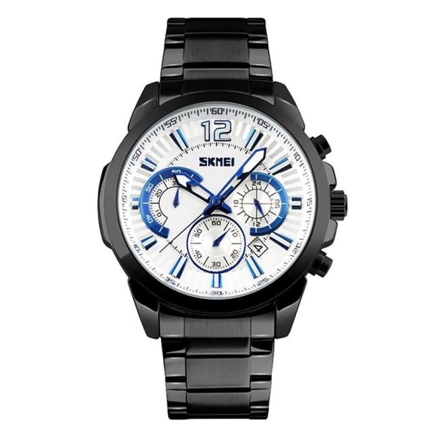Đồng hồ nam thời trang chống nước Skmei 9108  Đen  SK 114Đồng hồ nam thời trang Skmei
