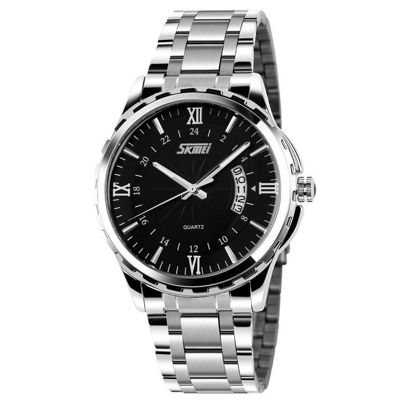 Đồng hồ nam thời trang chống nước Skmei  ( Đen )  SK 01