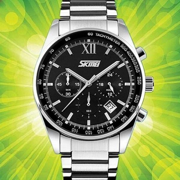 Đồng hồ nam thời trang chống nước Skmei ( Đen) SK 010