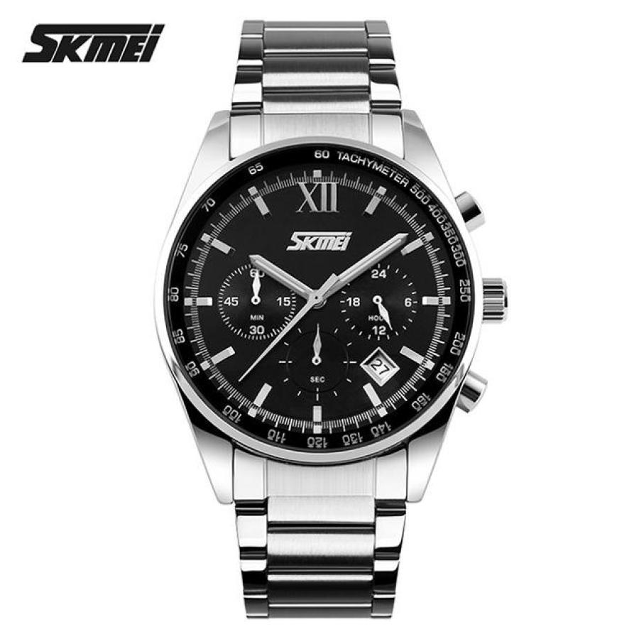 Đồng hồ nam thời trang chống nước Skmei  Đen SK 010Đồng hồ nam thời trang Skmei