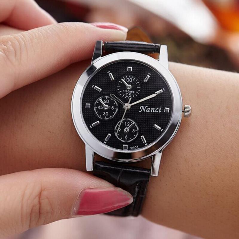 Đồng hồ Nanci ba kim nhỏ dây da sang trọng WH-9601(Nữ)