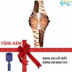Nơi bán Đồng hồ nữ 24mm dây kim loại chống nước R-ontheedge kèm dụng cụ cắt dây