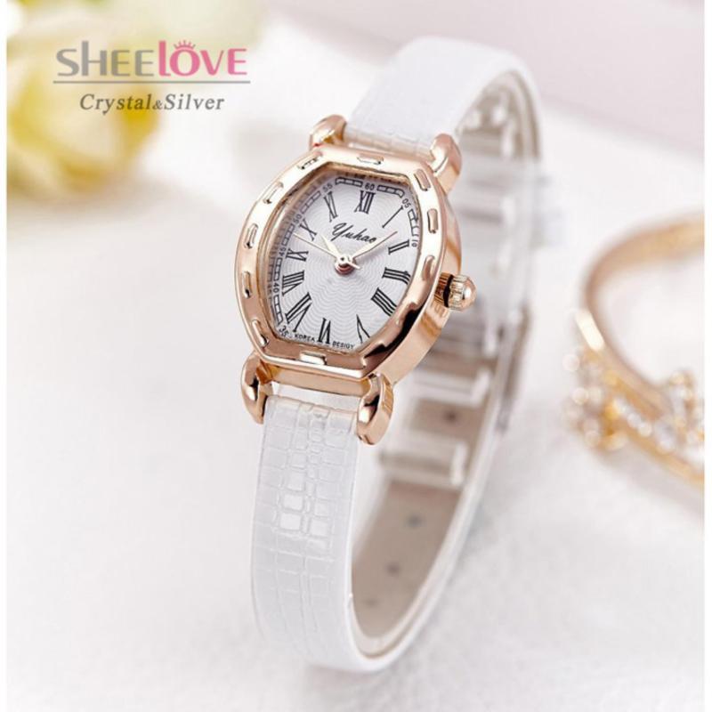 Đồng hồ nữ da cao cấp thời trang sang trọng nhiều màu WH-6595 (Trắng)