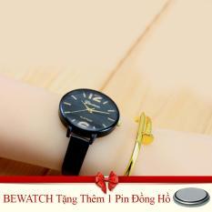 Đồng Hồ Nữ Day Da Bewatch Đen Tặng Kem 01 Vien Pin Trong Hà Nội
