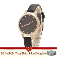 Mua Đồng Hồ Nữ Day Da Bewatch Đen Tặng Kem 01 Vien Pin Hà Nội